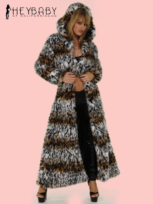6-333 Cross Front Maxi Coat with Hood