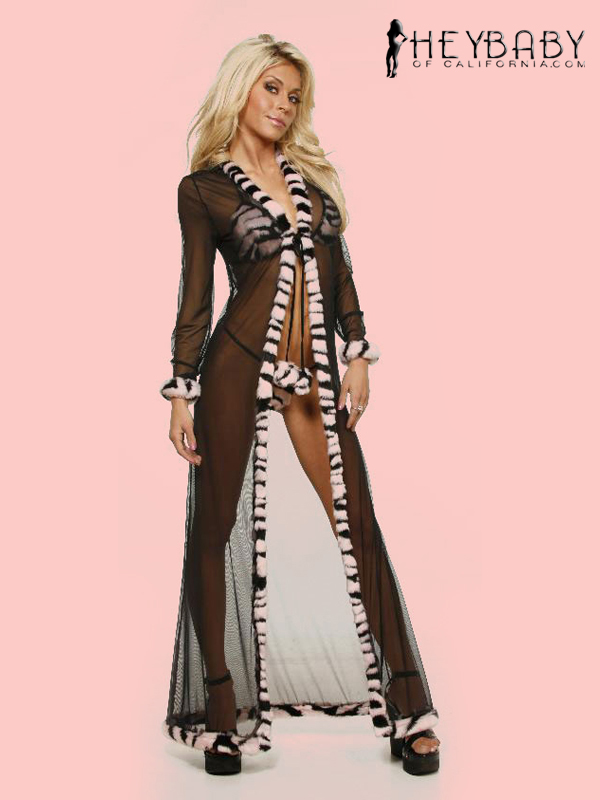 9-378 Full Length Mesh Robe