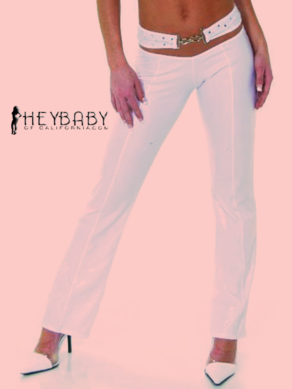 4-10 Pants with Rhinestone Belt