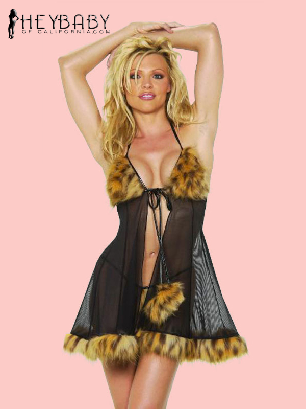 4-472 Babydoll Dress With Thong